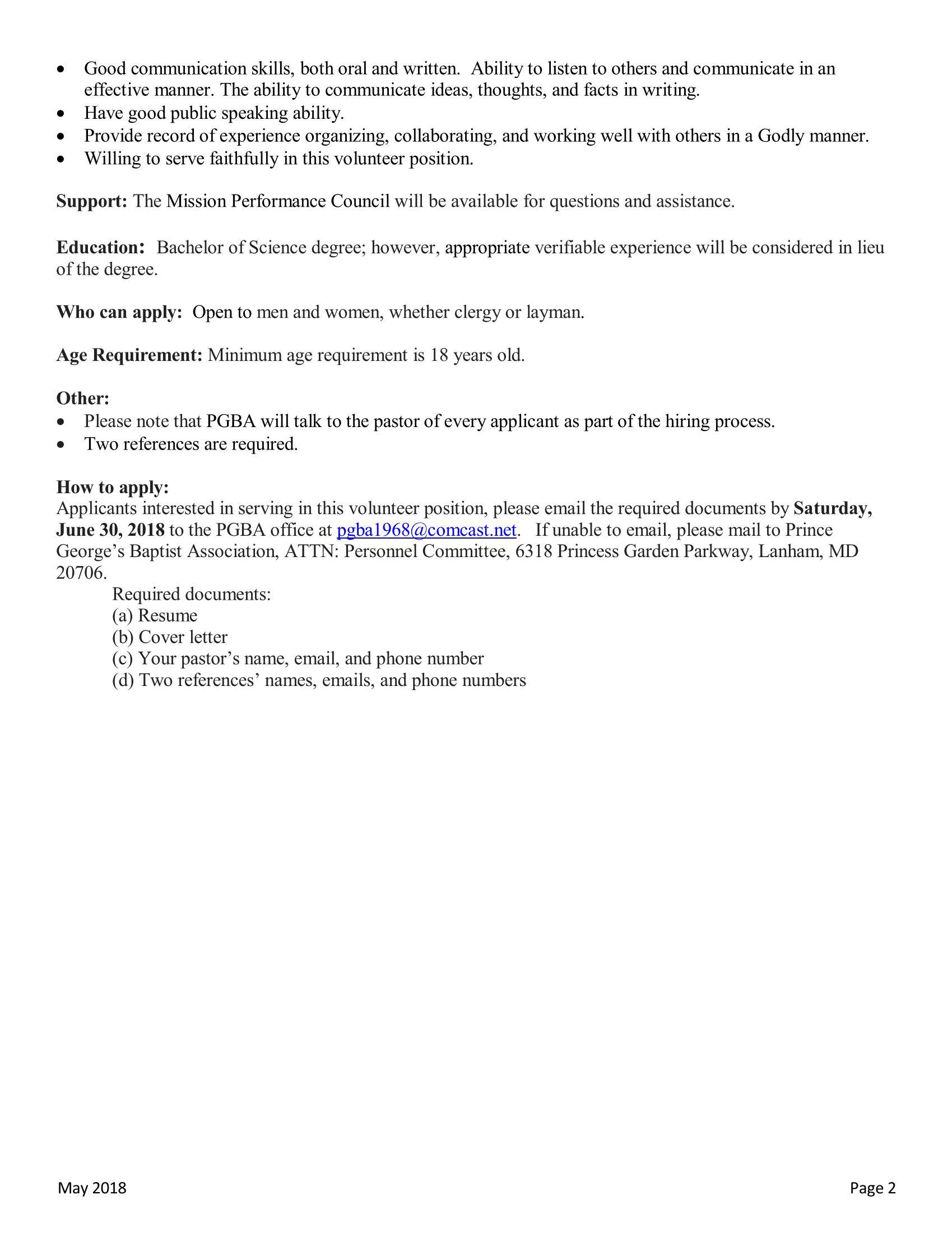 ... Job Description Director Of Ministry 2018 Pub_page_2